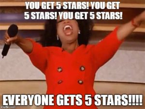 google five star reviews